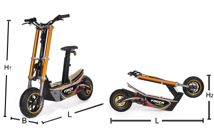 forca bossman s double fork e scooter electric scooter. Black Bedroom Furniture Sets. Home Design Ideas