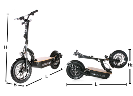 der revoluzzer45 e scooter 45km h. Black Bedroom Furniture Sets. Home Design Ideas