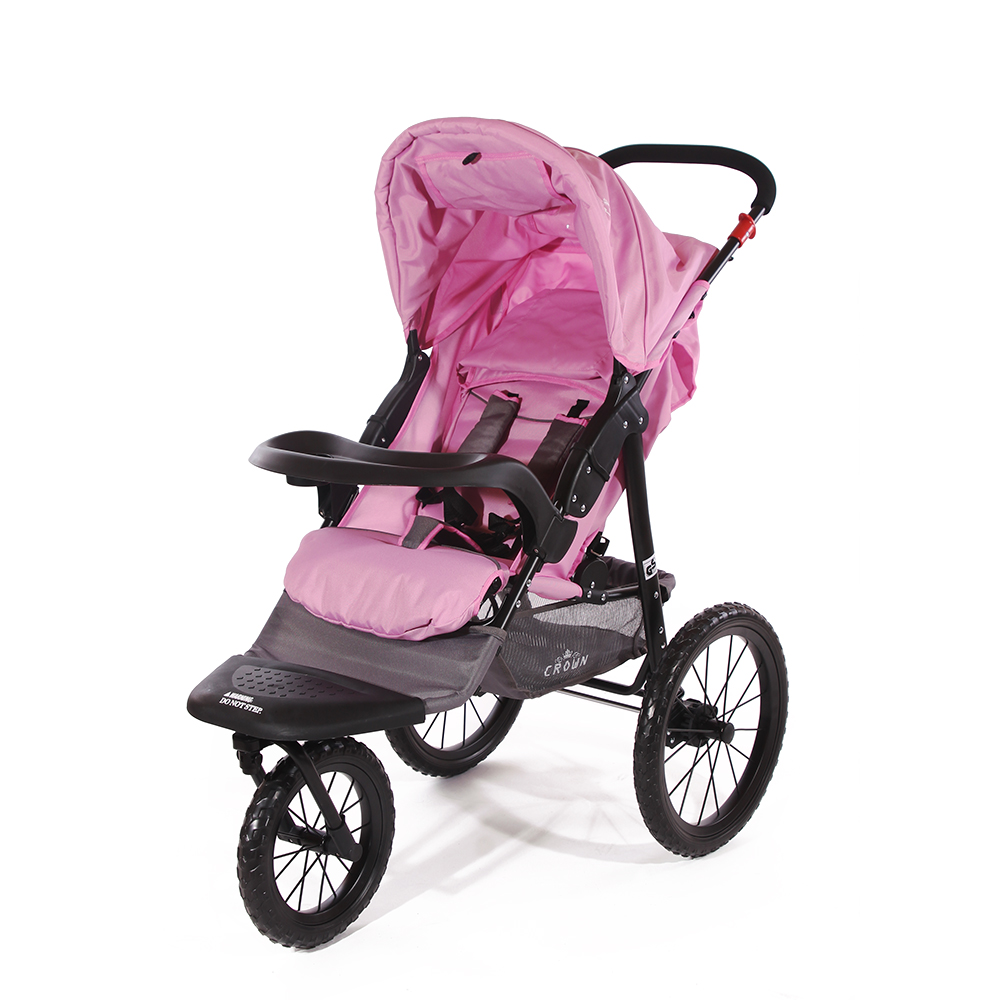 Crown st915 single kinderwagen jogger pink kinderwagen for Designhotel kinder